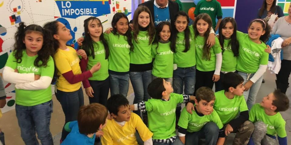 Acción solidaria junto a UNICEF