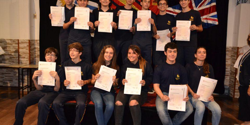 Entrega de Certificados de exámenes internacionales de Inglés